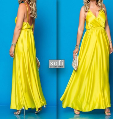Φόρεμα βραδινό κίτρινο